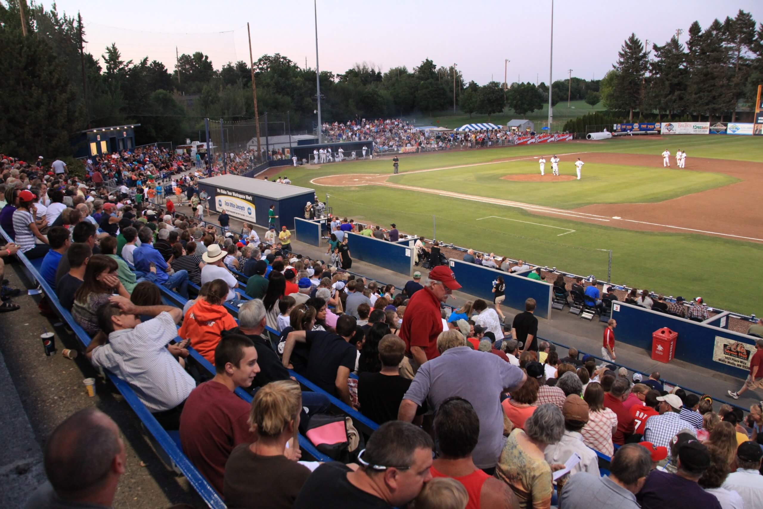 Fans Pack the Stands at Walla Walla's Borleske Stadium